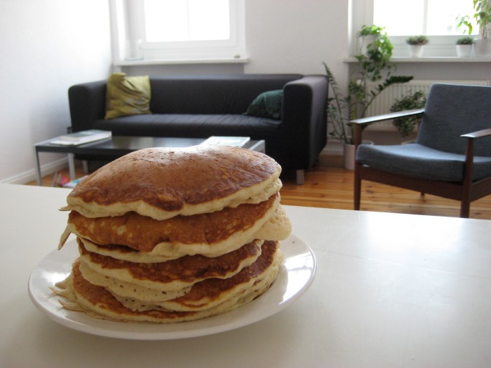 Stack of pancakes.