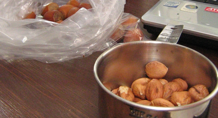 Halfway through shelling a billion (give-or-take) hazelnuts