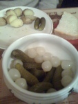 Cornichons and pickled onions