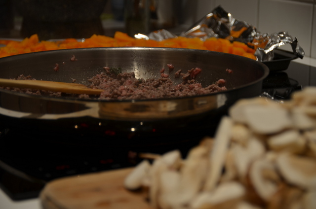 Meat sautéeing