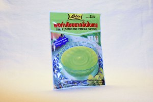 Pandan pudding mix