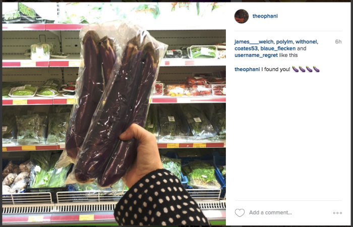 Instagram of Chinese long eggplants