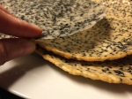 Sesame rice paper