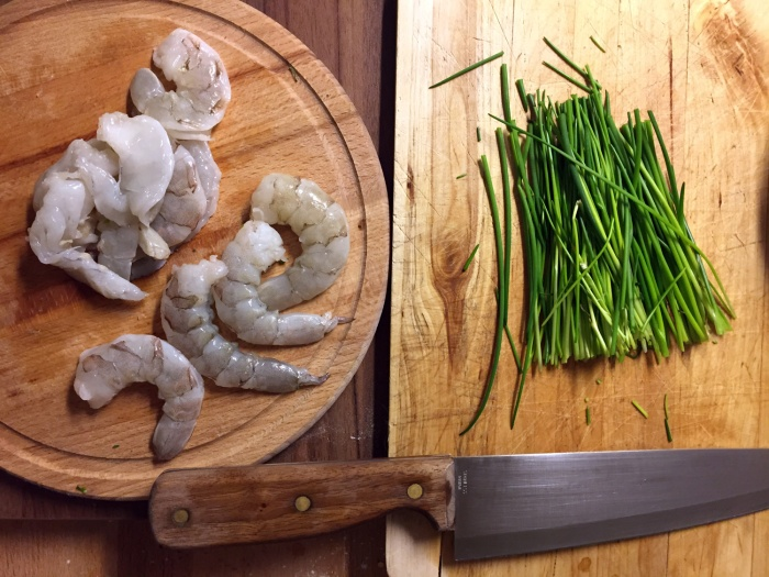 shrimp-chives