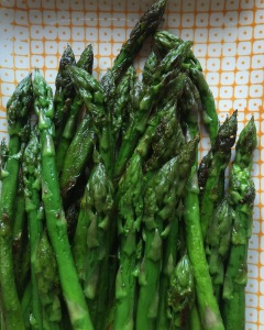 Perfect green asparagus – it does exist here!