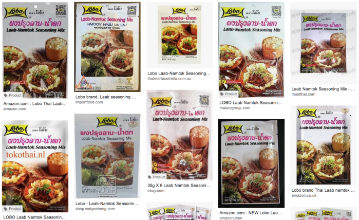 Lobo brand Laab-Namtok Seasoning Mix